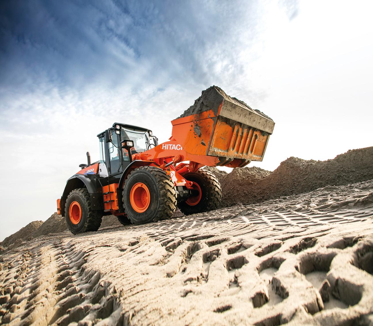 Hitachi ZW220-6 wheel loader dirt